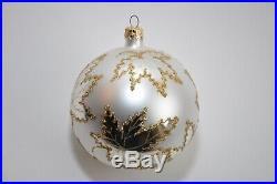 1987 Christopher Radko Round Ball Christmas Ornament Scarletts Wedding Dress