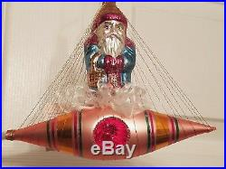 1993 NWT Christopher Radko SANTA IN SPACE Ornament 93-127-1 Rocket with Reflector