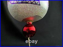 1993 Radko Ornament 5.5 Siberian Sleighride Red Ball Drop Finial 93-403-0