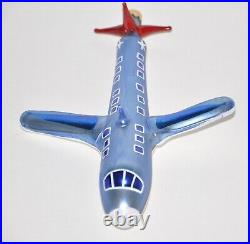 1994 Airplane Christopher Radko Christmas Ornament Glass 94-315-2 Rare