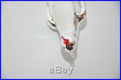 1994 Shivers Christopher Radko Penguin Silver Ornament Italian 94-262-0 Rare