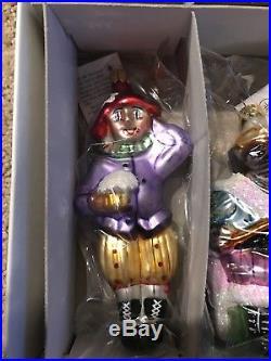 1996 Christopher Radko Nutcracker Suite 2 Christmas Ornaments