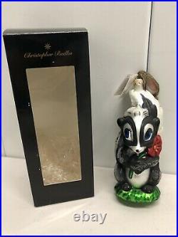 1997 Flower Bambi Christopher Radko Ornament Disney Limited Edition 603/5000