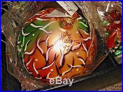 1997 NIB SIGNED CHRISTOPHER RADKO DISNEY 4 pc. BAMBI ORNAMENT SET withCOA & BOX