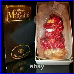 1997 Radko Disney The Little Mermaid SEBASTIAN LOBSTER Ornament New withBox