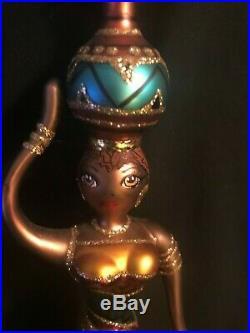 1999 Christopher Radko 10 Moroccan Lady Ornament Beautiful Ornament w Radko Box