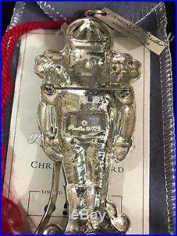 1999 Christopher Radko Sterling Silver Christmas Ornament Christmas Guard