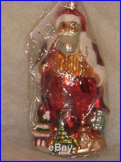 #1/3000 Nwt Christopher Radko 1998 Saks Santa For All Nations Christmas Ornament