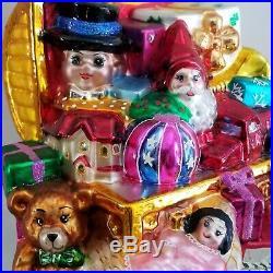 #1 XL LE #1/75 CHRISTOPHER RADKO Marshall Fields CHRISTMAS ORNAMENT VTG TOYCHEST