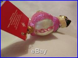 20th Anniversary Christopher Radko Bloomies Shopper Muffy Glass Ornament 5.50