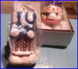 2 Large 1996 Christopher Radko Ornaments in Original Box & Wrapper