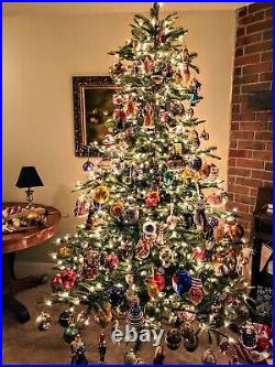 30 Plus Year Collection Of Chritmas Ornaments. Tons Of Radko, Faberge Eggs