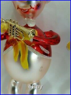 3 Christopher Radko Italian Blown Glass Ornaments THREE LITTLE JIGS / Pigs 1996
