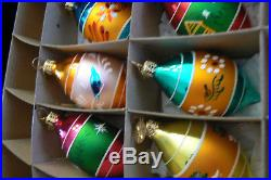 6 Christopher Radko FANTASIA Glass Ornaments Indent NATURES VALLEY withBox FREUSHP