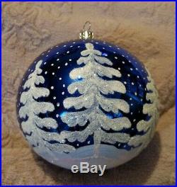 93-317-0 Christopher Radko North Woods Blown Glass Ball Christmas Ornament 4