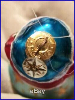 96-289-0 Christopher Radko Twilight Santa Reflector 3 Drop Ball Xmas Ornament