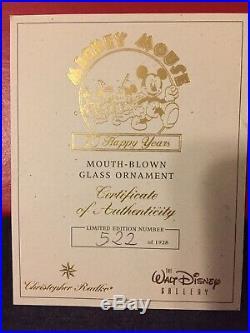 Amazingly Rare Christopher Radko Disneys Mickey Mouse 70 Happy Years Box Set