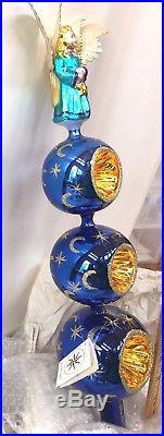 Angels Auction Xmas Christopher Radko Finial Tree Top Celestial Moon Star Angel