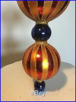 Authentic, Vintage Christopher Radko Grand Circus Jumbo Ball Drop Ornament
