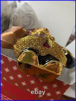 BNIB 2012 Christopher Radko MUFFY BLOOMIES SHOPPER Ornament RARE Bloomingdales