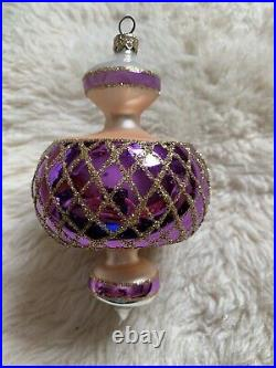 Beautiful Christopher Radko Glass Ball Christmas Ornament