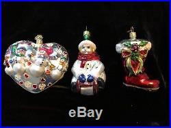 Beautiful Vintage Lot of 32 Christopher Radko Glass Christmas Ornaments