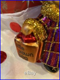 Bnwt Rare 2012 Radko Muffy Shopper Bloomingdales Christmas Ornament New