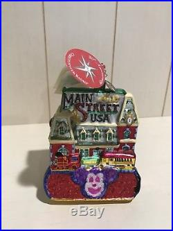 CHRISTOPHER RADKO DISNEYLAND 50th Anniversary Main Street Ornament