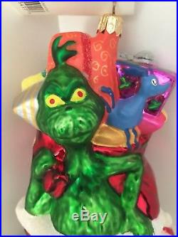 CHRISTOPHER RADKO DR. SEUSS' CHRISTMAS GLASS ORNAMENT Grinch 1997 On the Rooftop