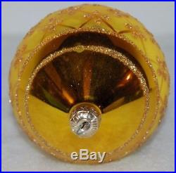 CHRISTOPHER RADKO FABERGE Christmas Ornament 87-034-0 GOLD TEARDROP