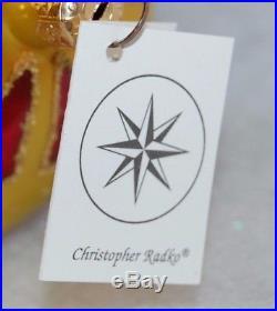 CHRISTOPHER RADKO FESTIVA Christmas Ornament 96-212-0 LARGE TEARDROP BALL
