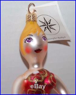 CHRISTOPHER RADKO FLORA DIVA Christmas Ornament 97-342-0 Woman red dress