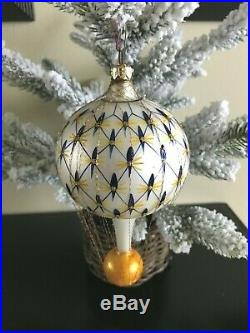CHRISTOPHER RADKO FRENCH REGENCY BALLOON w CAGED WIRED ORNAMENT, Vintage 1994