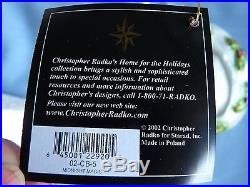 CHRISTOPHER RADKO MIDNIGHT MAGIC 3pc SET SANTA SLEIGH, REINDEER, VICTORIAN HOME