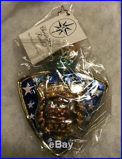 CHRISTOPHER RADKO NEW YORK CITY'S FINEST NYPD CHRISTMAS ORNAMENT mint