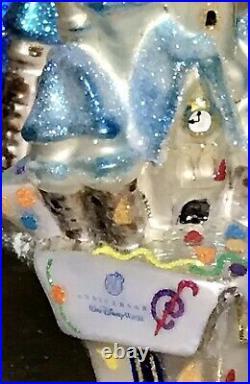 CHRISTOPHER RADKO ORNAMENT DISNEY 30th Anniversary Set Of 2 Goofy And Castle