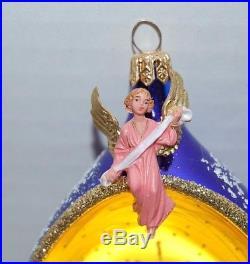 CHRISTOPHER RADKO O HOLY NIGHT Christmas Ornament 95-260-0 Holy Family, Teardrop