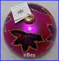 CHRISTOPHER RADKO RAINBOW SCARLETT Christmas Ornament 87-010-4 Purple Ball