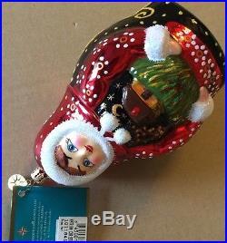 CHRISTOPHER RADKO Retired RARE 2005 KATRINA Glass Christmas Ornament NWT Poland