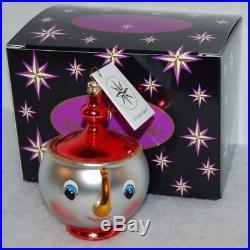 CHRISTOPHER RADKO TEA & SYMPATHY Christmas Ornament 93-244-1 Beauty & the Beast