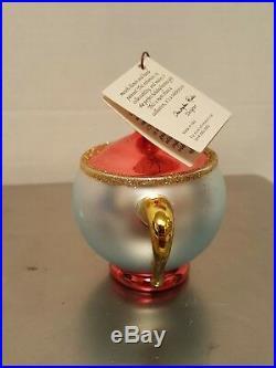 CHRISTOPHER RADKO TEA & SYMPATHY Christmas Ornament Beauty & the Beast