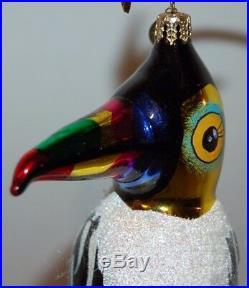 CHRISTOPHER RADKO TROPIC PLAY Christmas Ornament 1011337 TOUCAN BIRD