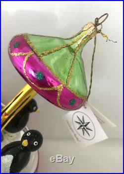 CHRISTOPHER RADKO TUXEDO CAROUSEL RARE Ornament