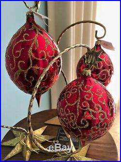 CHRISTOPHER RADKO Three Rhapsody Ornaments