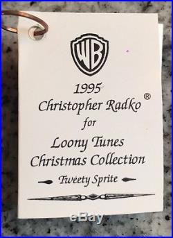 CHRISTOPHER RADKO Tweety Sprite Looney Tunes Christmas Collection Ornament