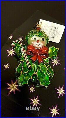 CHRISTOPHER RADKO VINTAGE HOLLY JEAN BLOWN GLASS CHRISTMAS ORNAMENT 2003 New