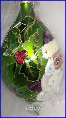 CHRISTOPHER RADKO VINTAGE REGENCY SANTA GLASS ORNAMENT Cat#97-SP-24, 1560/2500