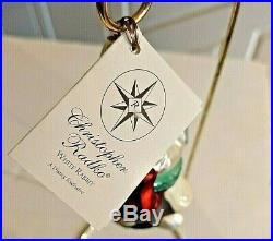 C. Radko THE WHITE RABBIT from ALICE IN WONDERLAND Ornament Clock Heart RARE