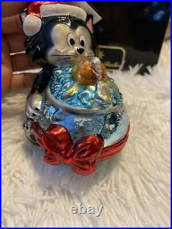 C. Radko Walt Disney CLEO & FIGARO Ornament PINOCCHIO PETS CAT & GOLDFISH LE