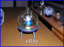 Christmas Ornament Blown Glass SPACESHIP ALIEN UFO Christopher Radko